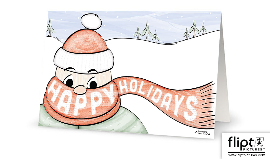 Happy Holidays Greeting Card - Flipt Pictures